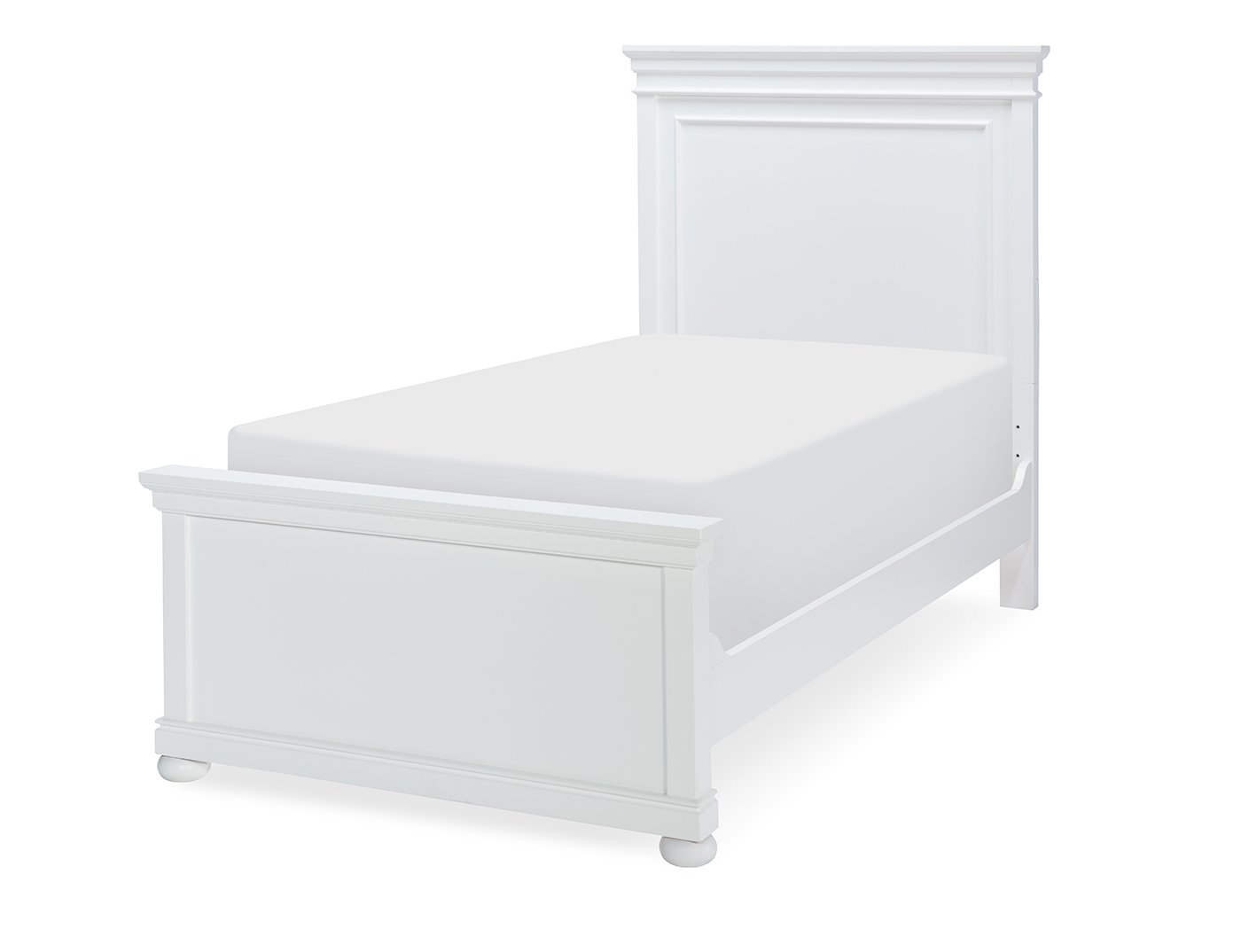 Canterbury White Twin Panel Bed
