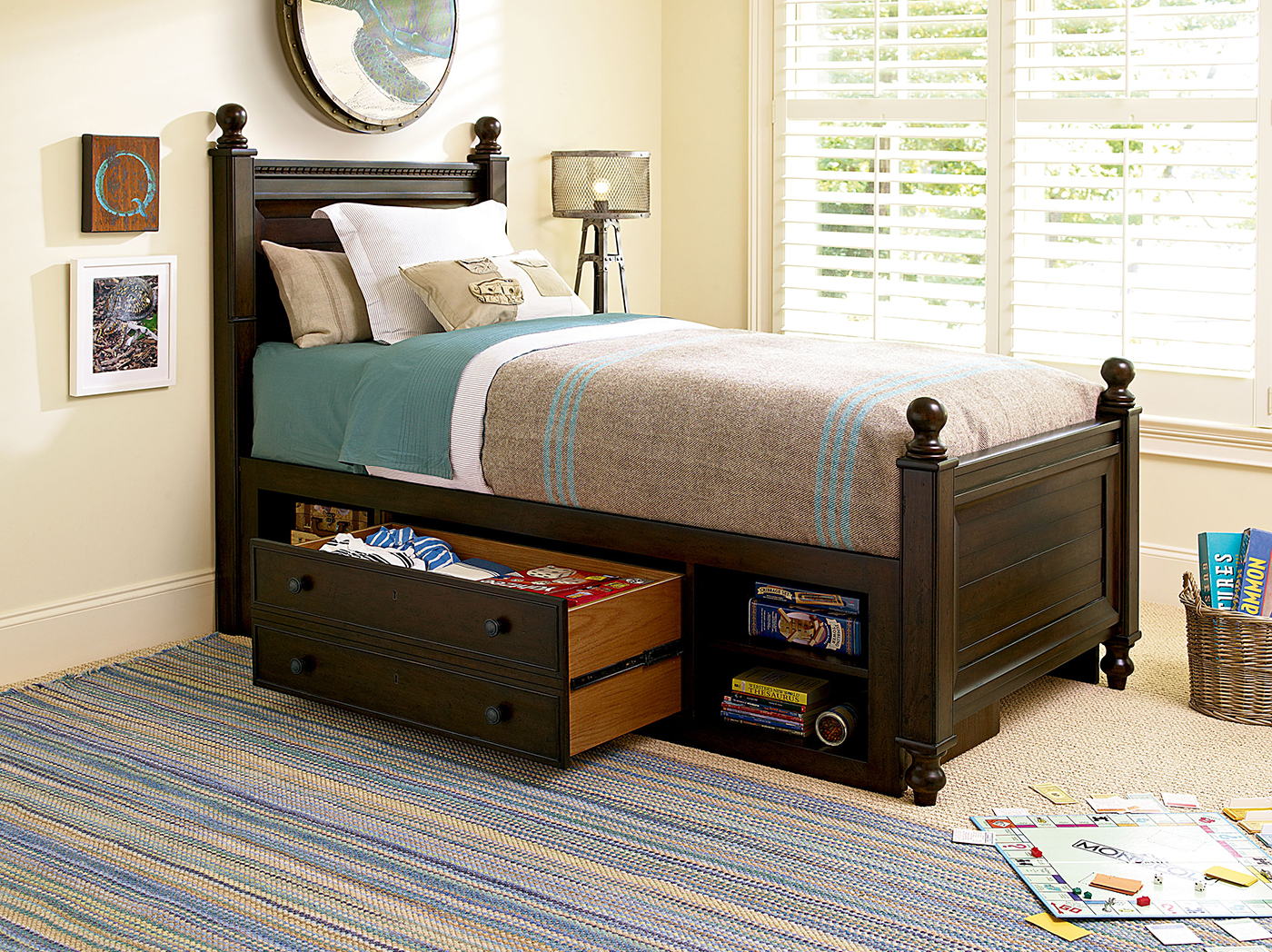 Guys Twin Storage Reading Bed