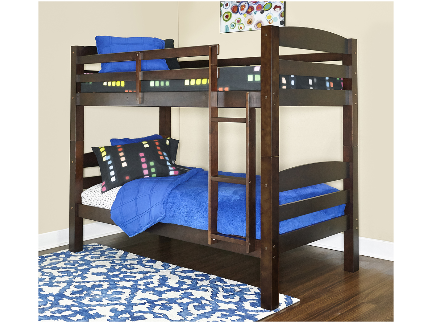 Espresso Twin/Twin Bunk Bed, One Box