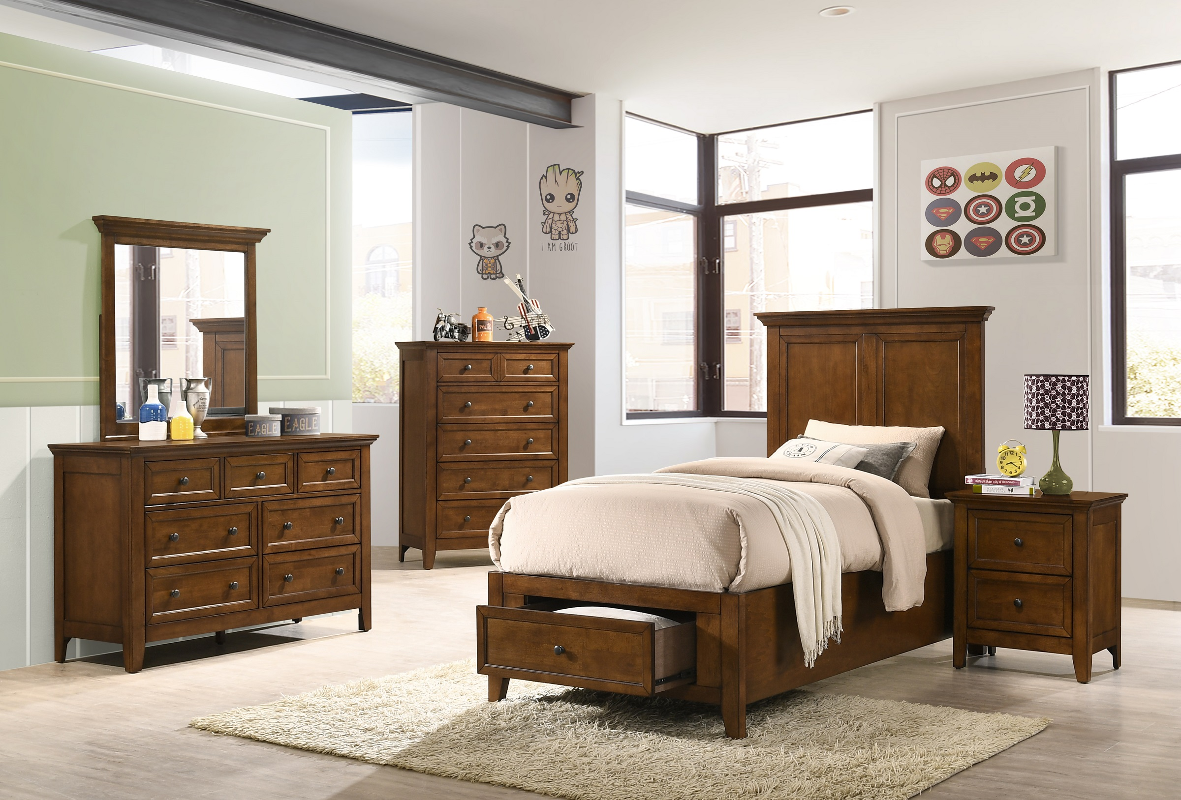 San Mateo Tuscan Twin Storage Bed