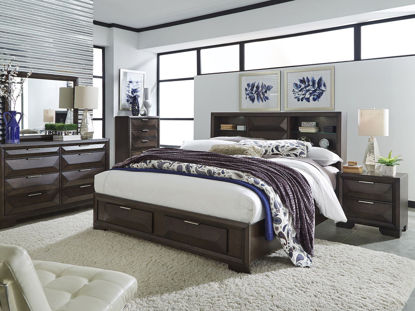 shore queen south the beds with drawers black headboards home storage p bed primo pure depot