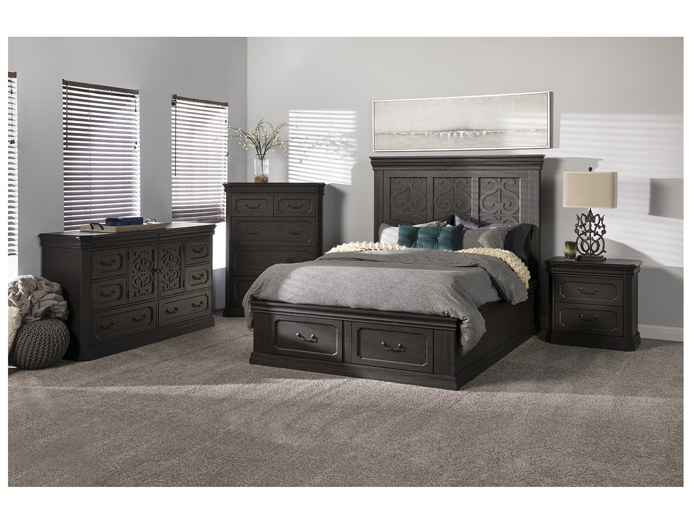 Direct Designs® Grace King Storage Bed