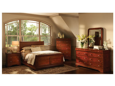French Classic Queen Panel Bed
