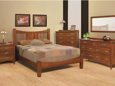 Heartland Queen Slat Bed w/Lo-Pro Footboard