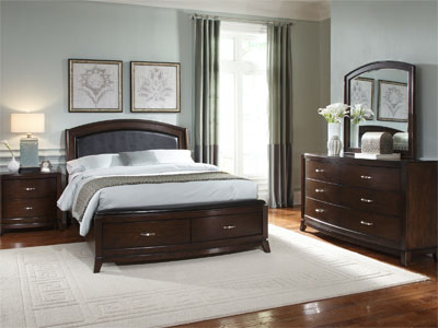 Queen Brennan Leather Storage Bed