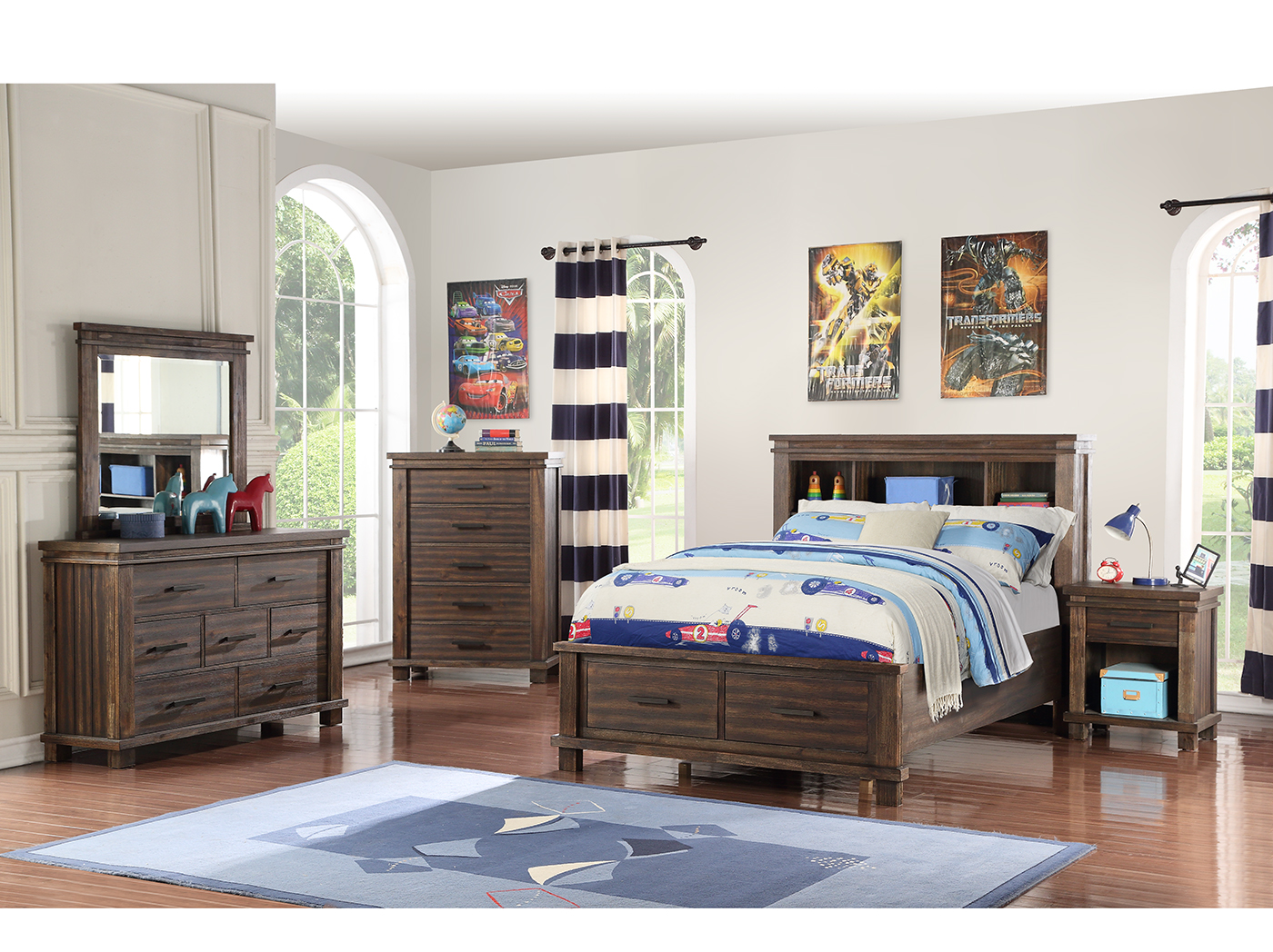 Sawyer Full Bookcase Storage Bed