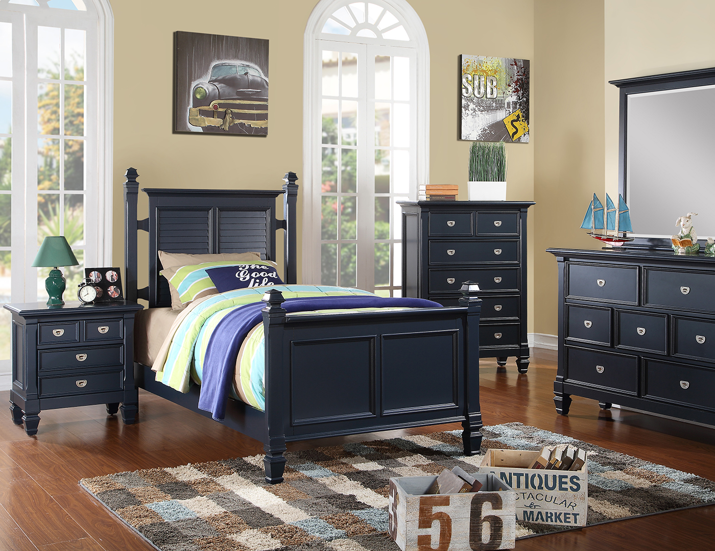 Summer Breeze Full Poster Bed