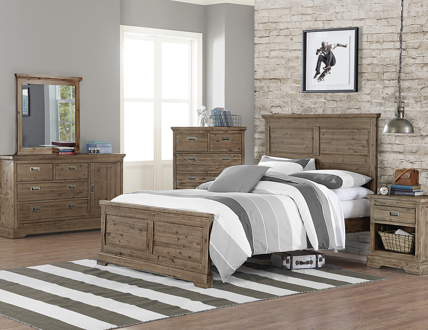 Oxford Full Panel Bed