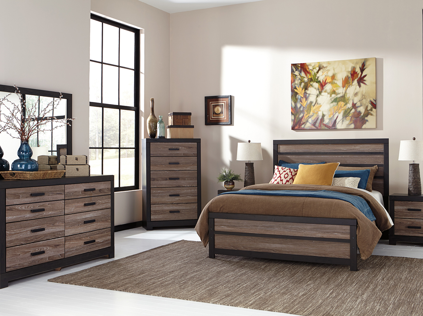 Harlinton 3-pc. Queen Panel Bed Set