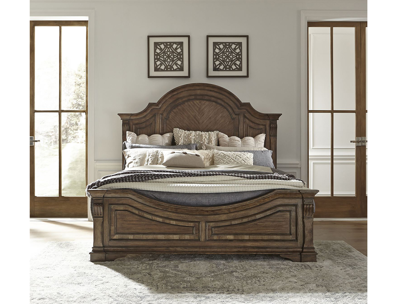 Haven Hall Queen Arched Panel Bed