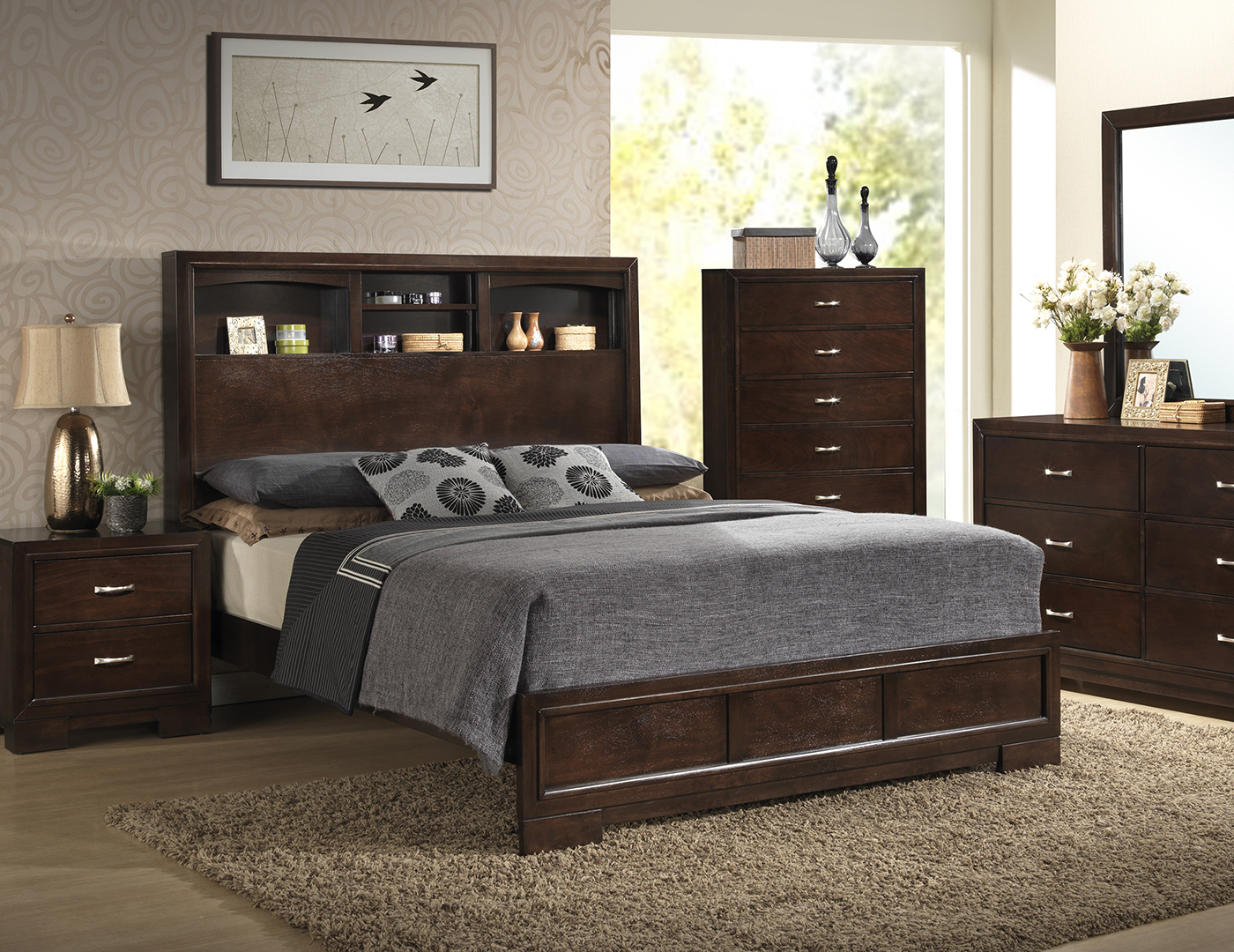 Bookcase Headboard steinhafels - harper queen bookcase headboard bed