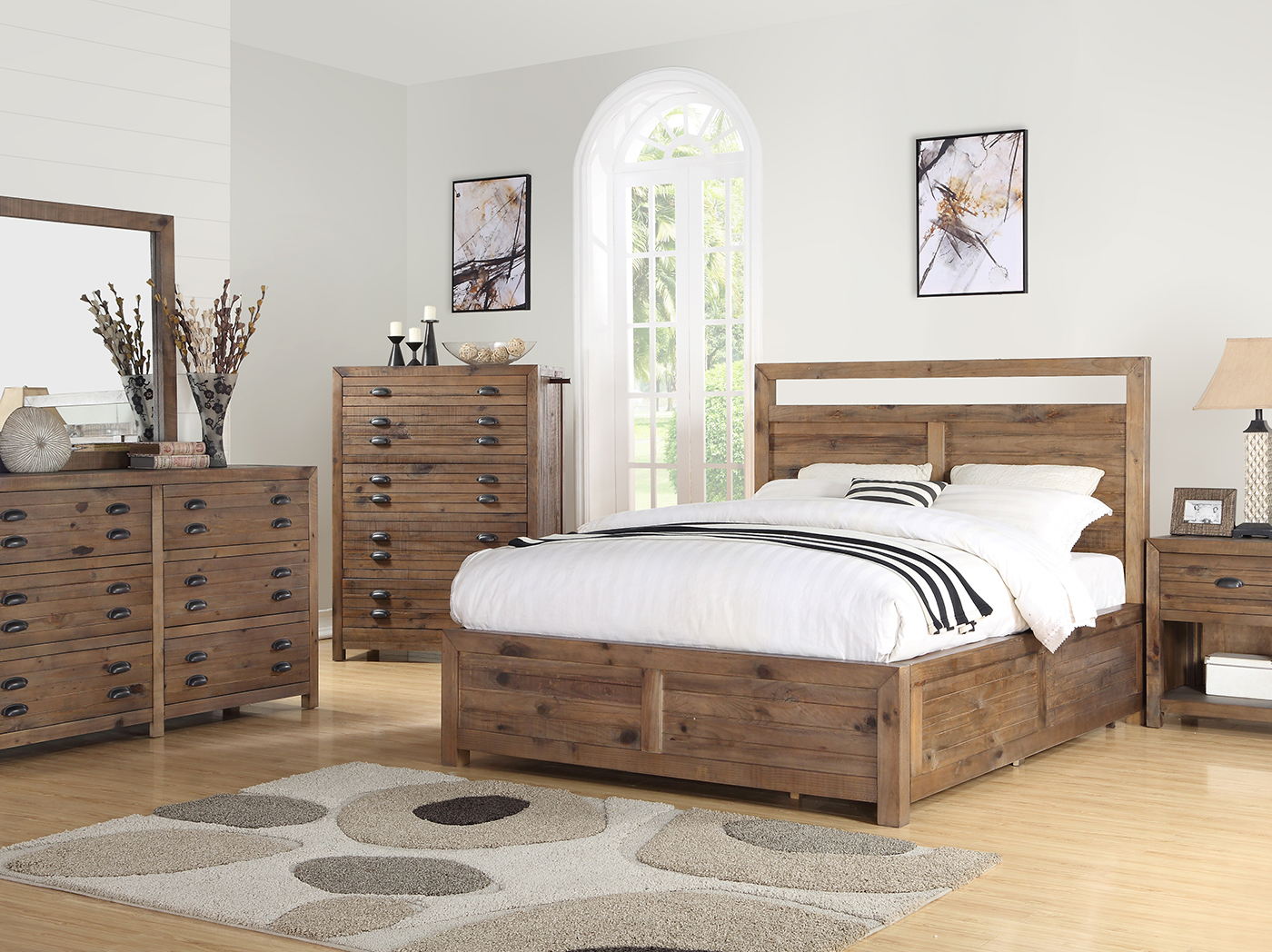 Pine Hollow Queen Panel Bed