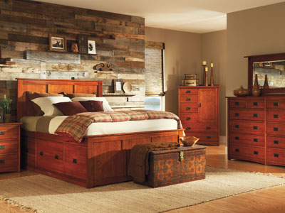 American Mission Queen Storage Bed