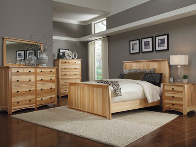 Hickory Ridge Queen Panel Bed