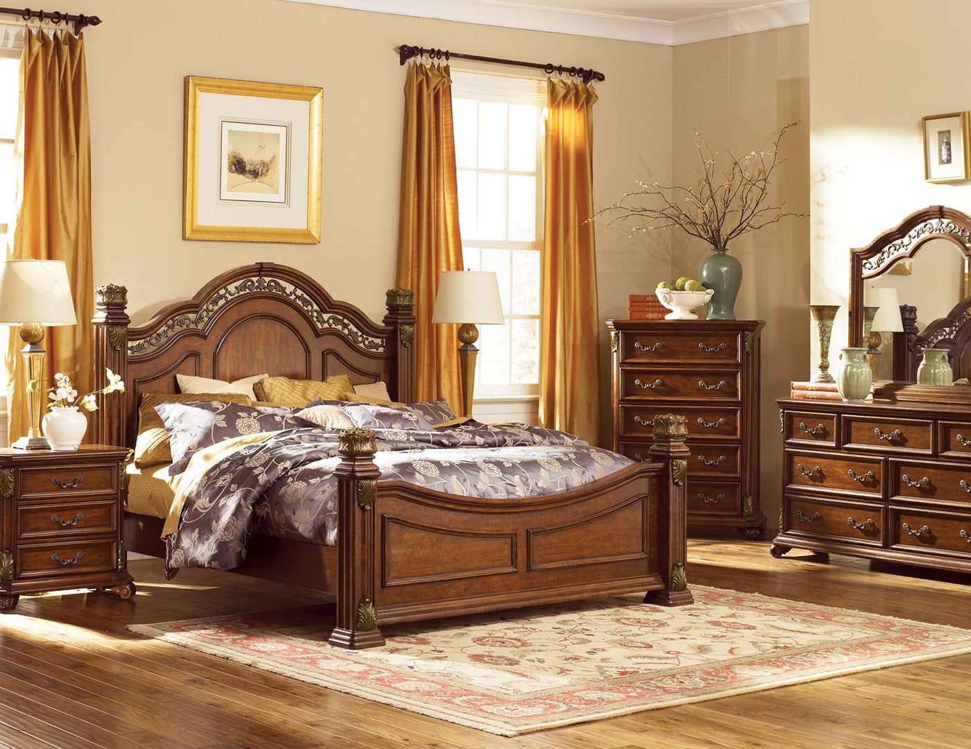 Messina King Poster Bed