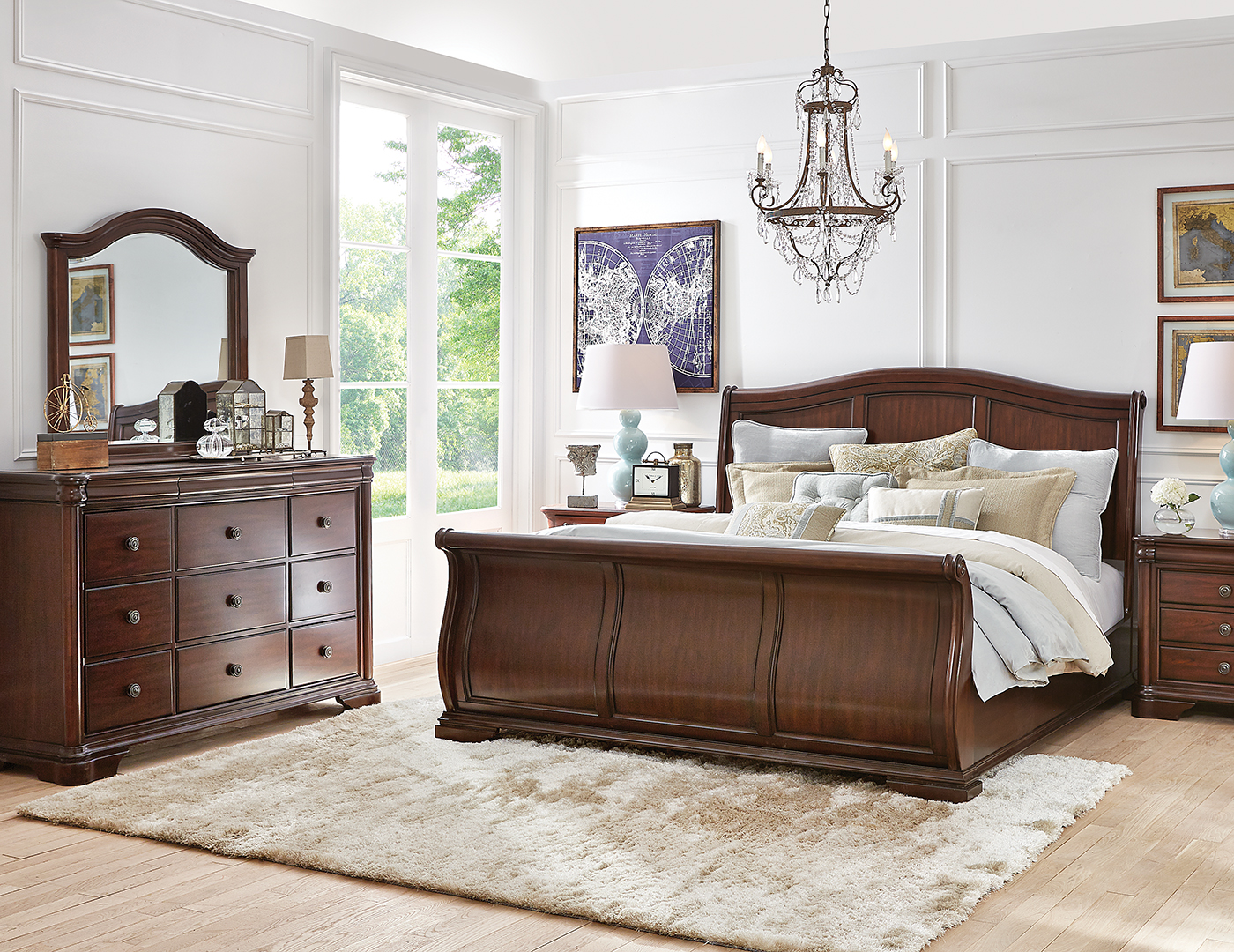 Rochelle King Sleigh Bed