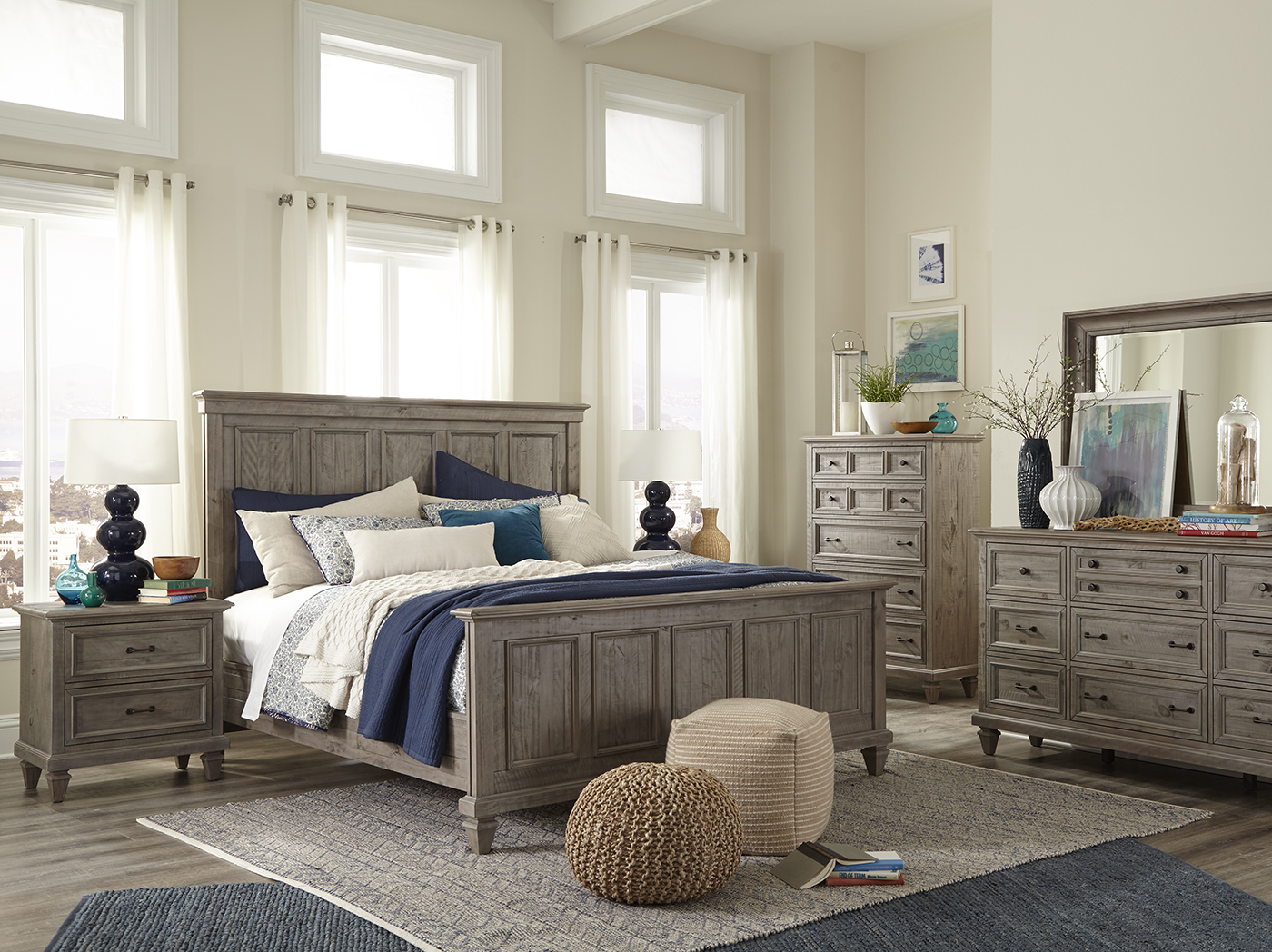 Lancaster King Panel Bed