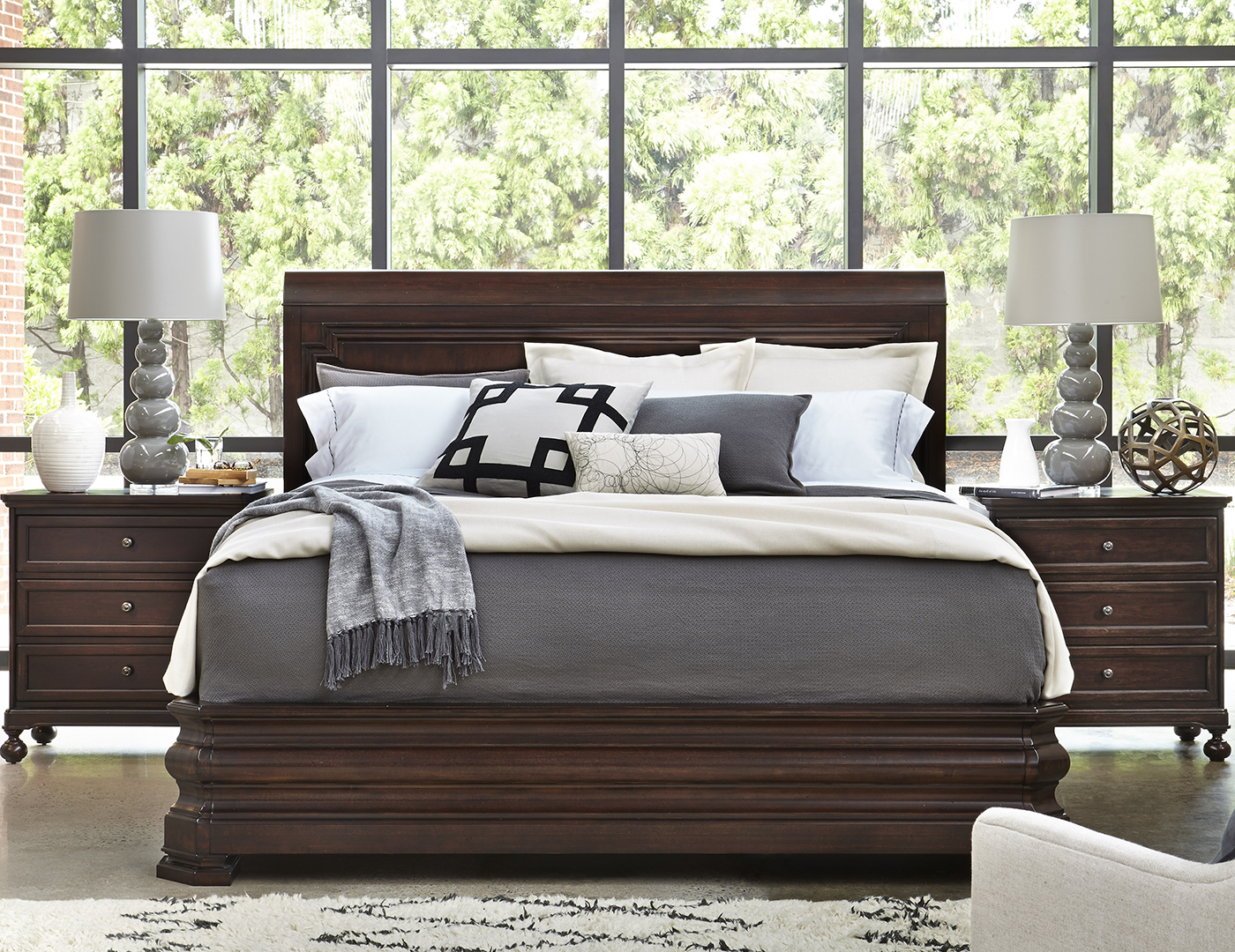Proximity King Sleigh Bed