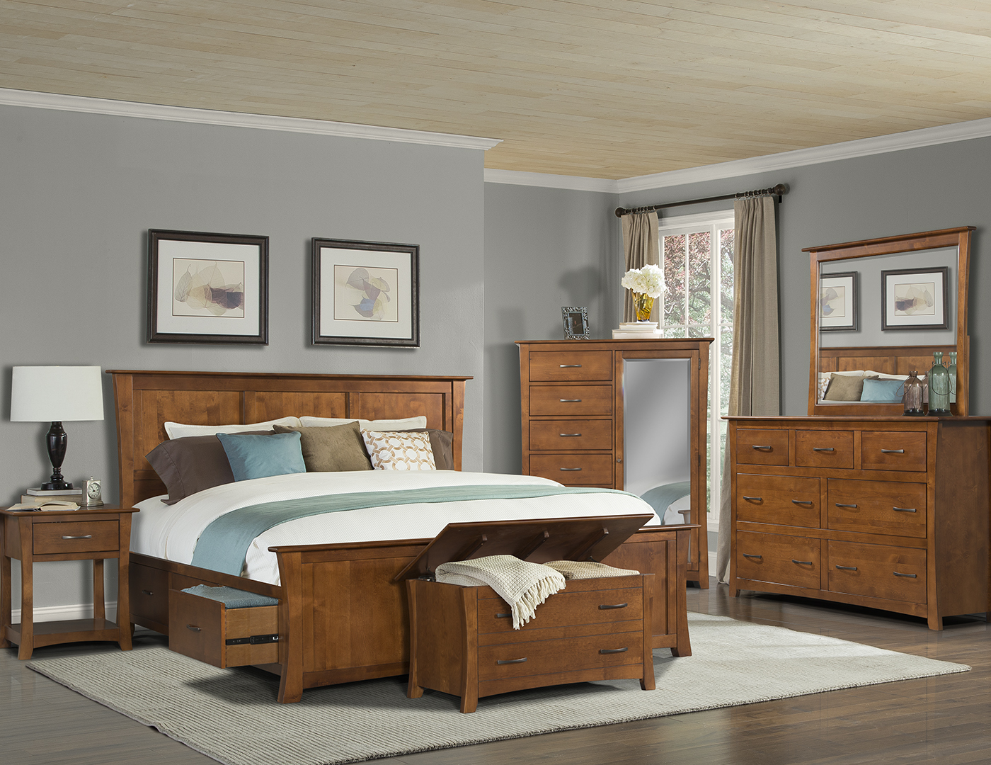 grant park king storage bed