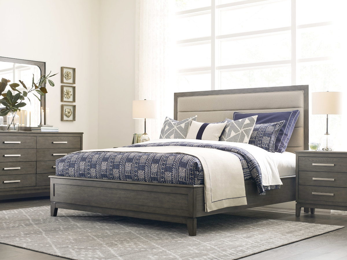 Kincaid Cascade King Upholstered Panel Bed