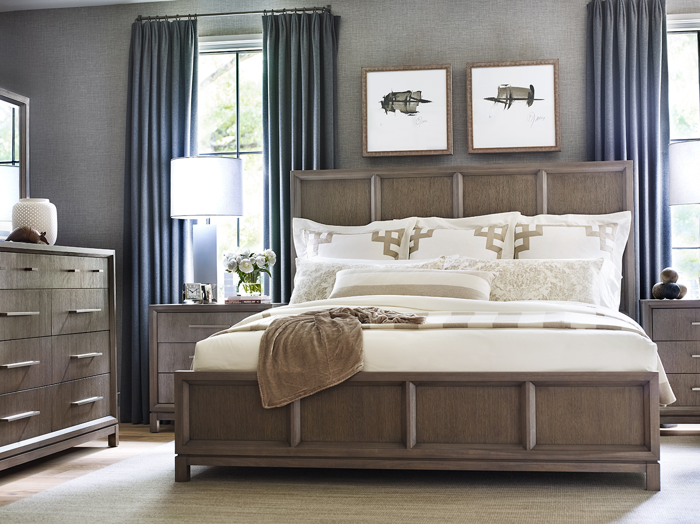 Highline by Rachael Ray King Panel Bed