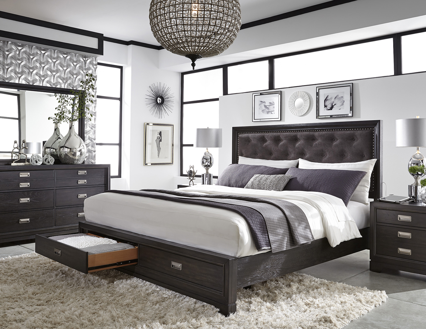 Front Street King Storage Bed
