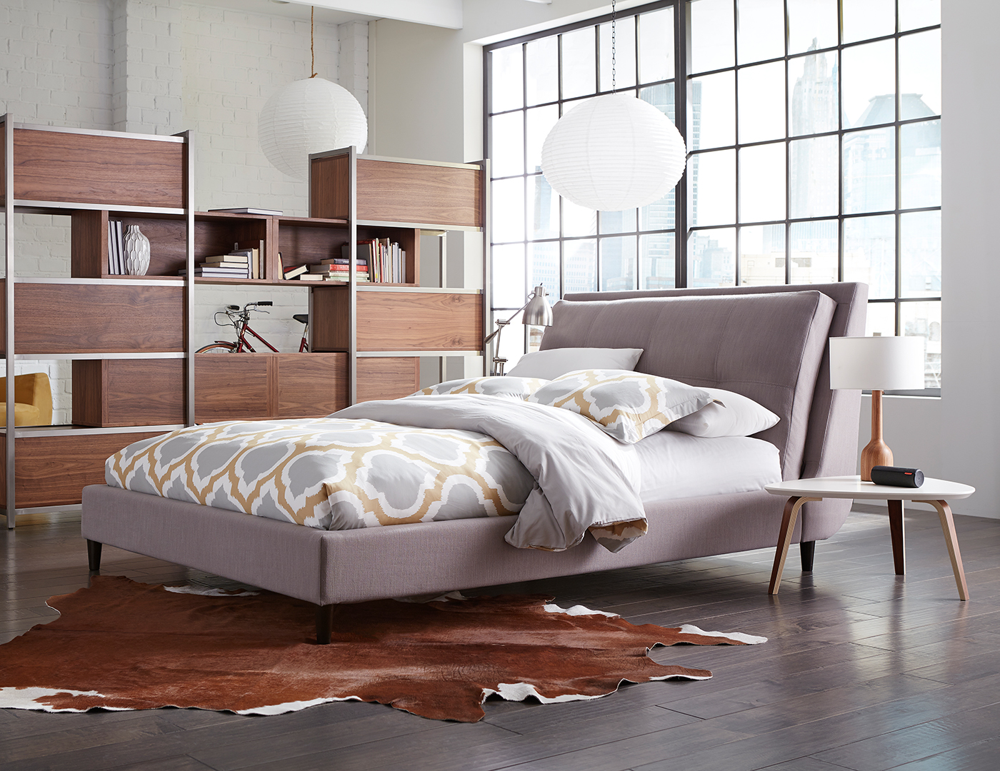 Skyler King Upholstered Bed