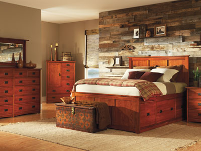 American Mission King Storage Bed