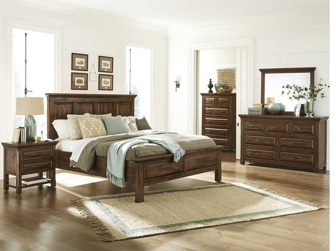 Charmant Hillcrest King Panel Storage Bed