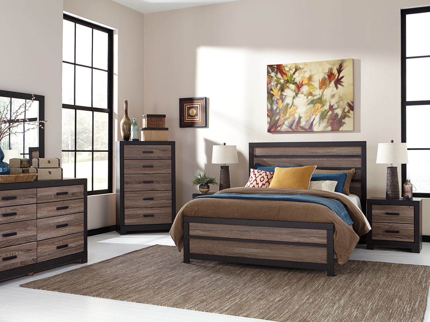 Harlinton 3-pc. King Panel Bed Set
