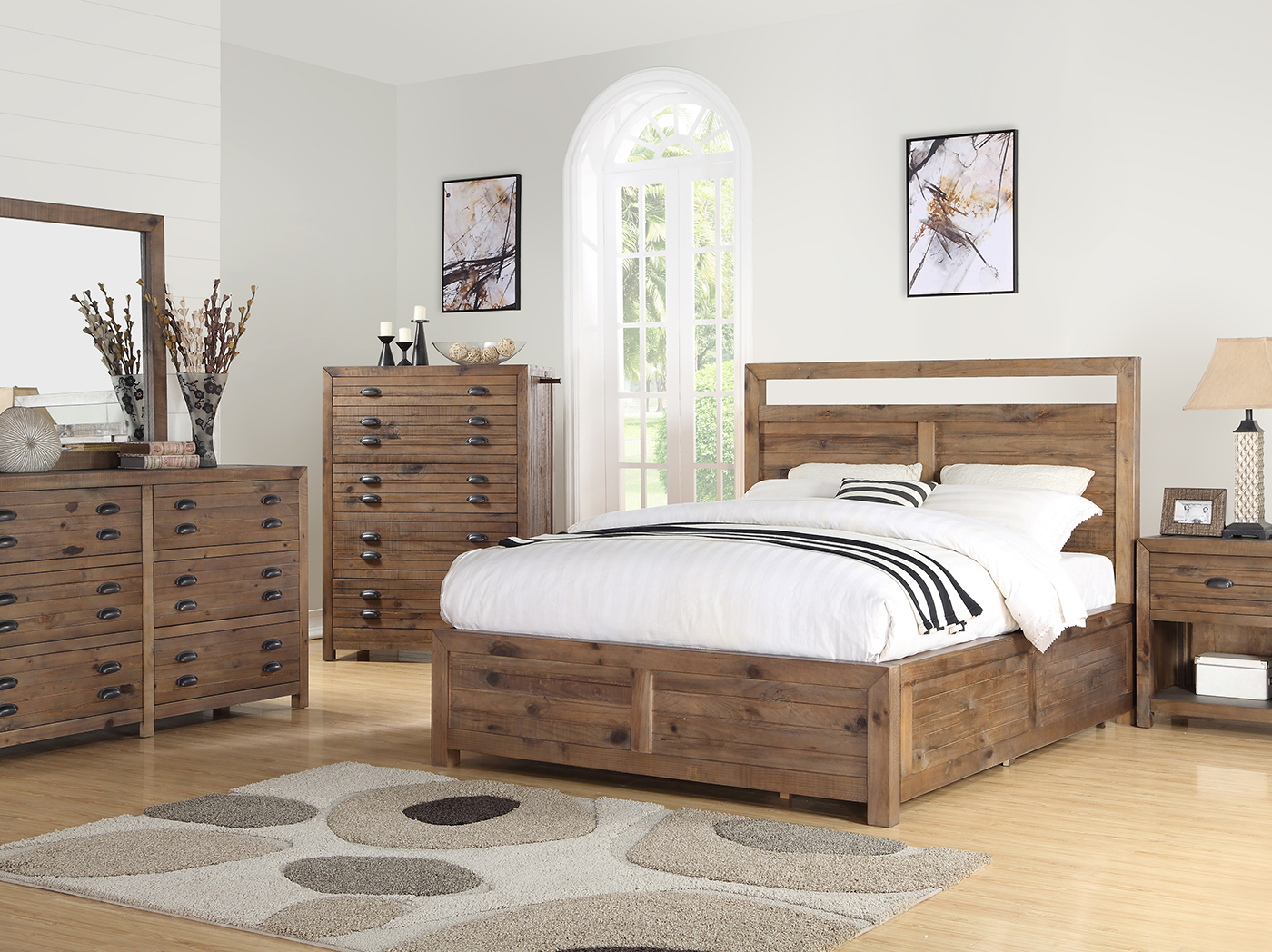 Pine Hollow King Panel Bed