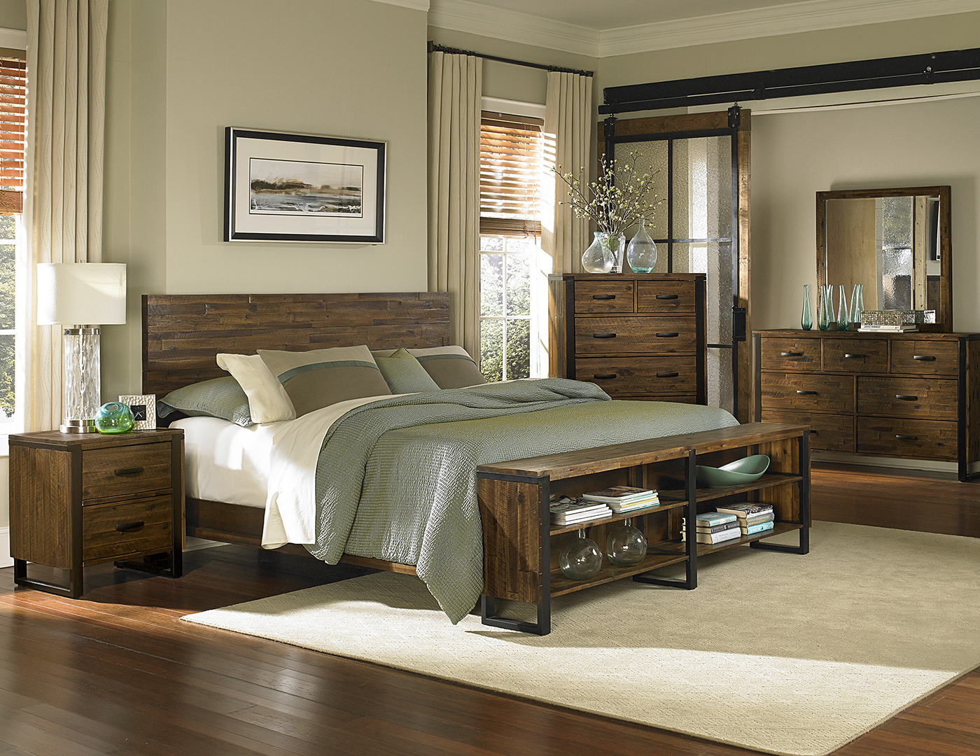 Direct Designs® Sierra King Panel Bed