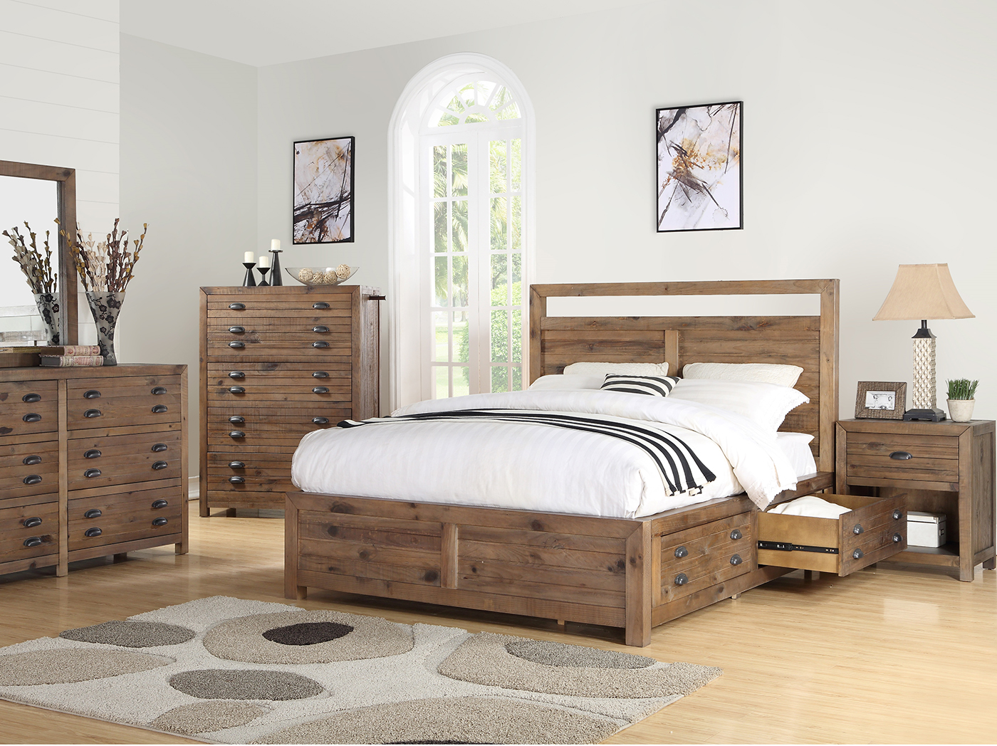 Pine Hollow King Storage Bed