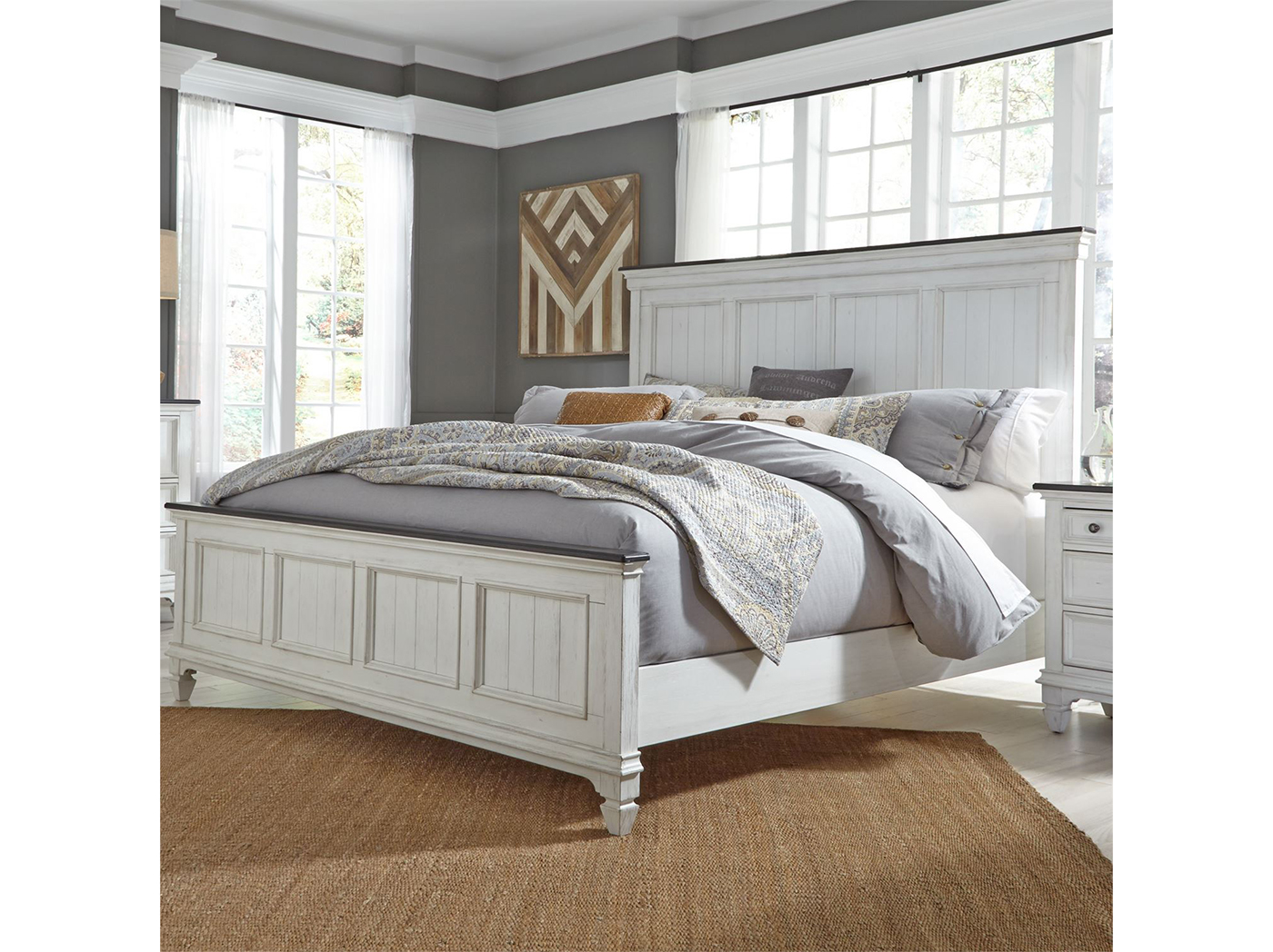 Allyson Park King Panel Bed