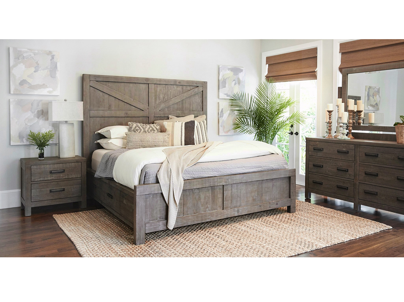 Taryn King Panel Storage Bed
