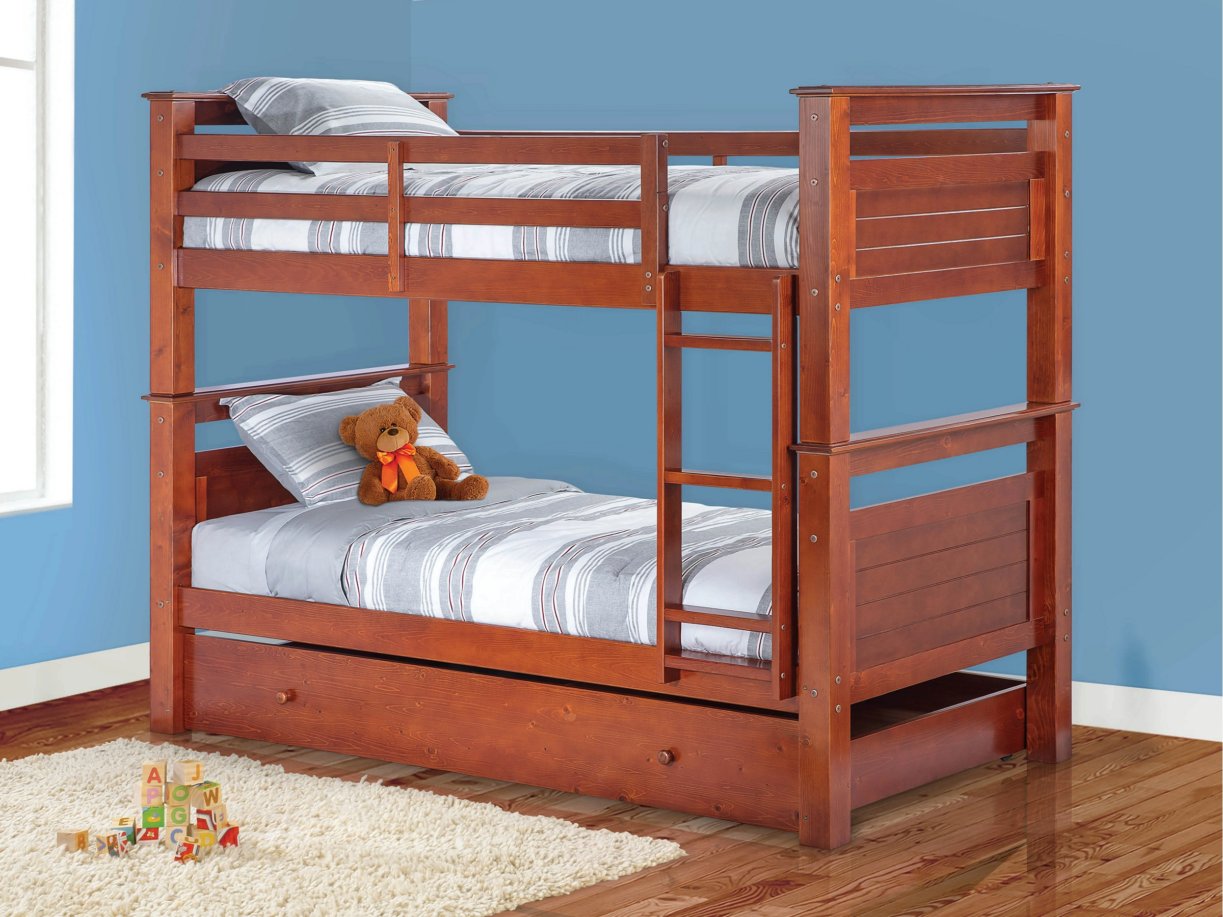 CMA - Twin Over Twin Bunk Bed With Trundle