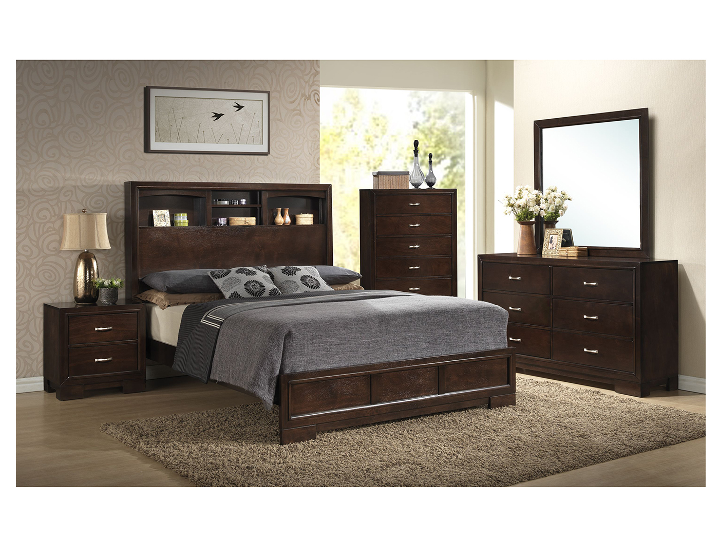 Harper 5 Pc King Bedroom Set
