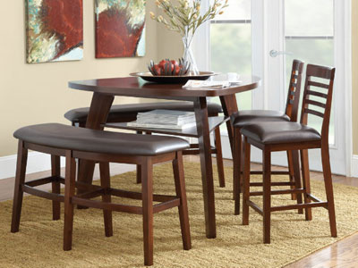Thomas Cole Carlton 4-pc. Triangle Counter-Height Dining Set