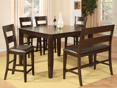 Attractive Dark Rustic 5 Pc. Counter Height Dining Set