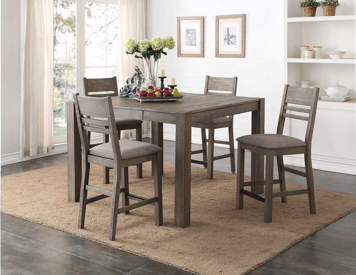 Steinhafels trisha yearwood 5 pc dining set for Counter height dining set