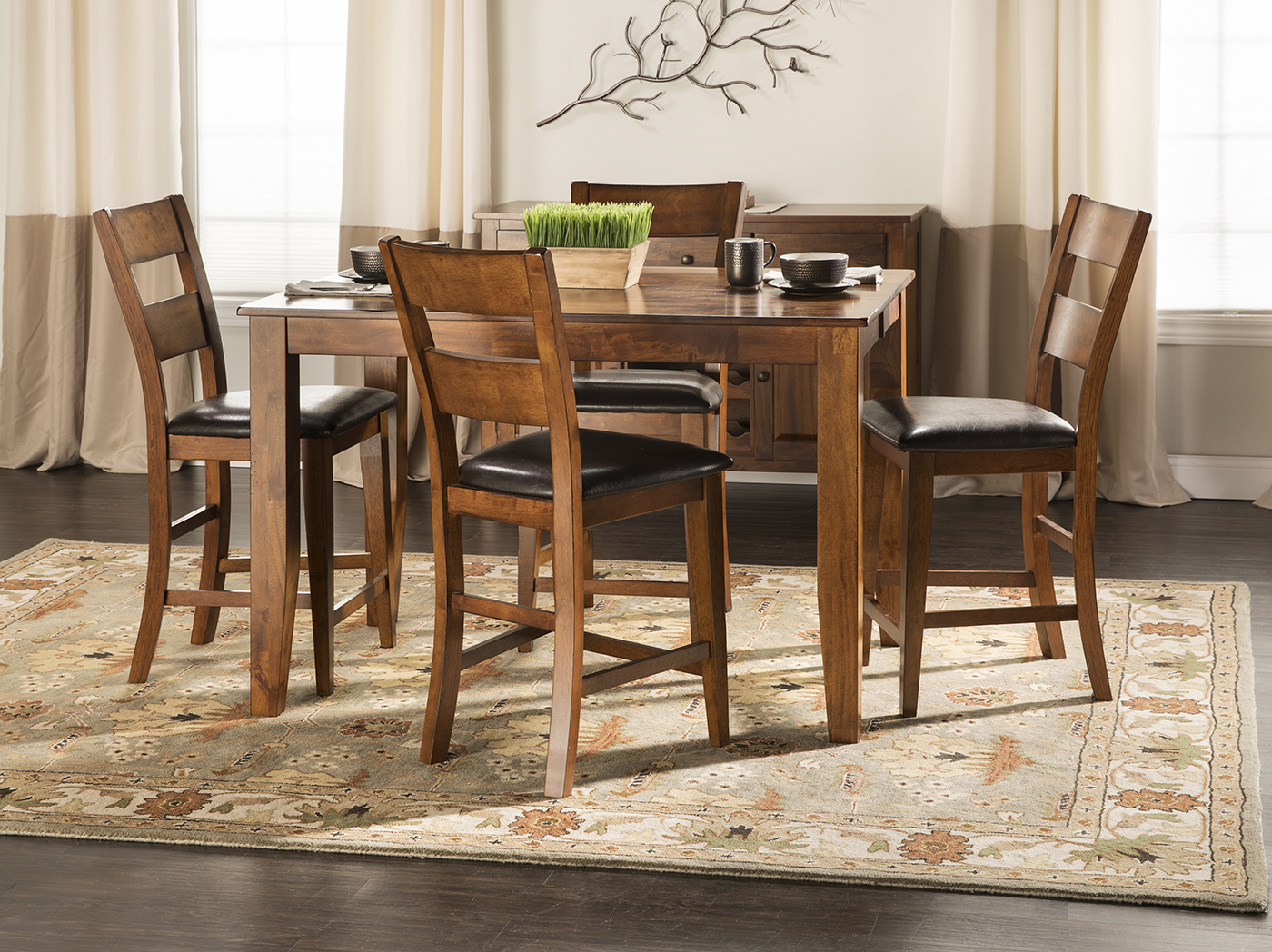 Amber 5-pc. Counter-Height Dining Set | Steinhafels