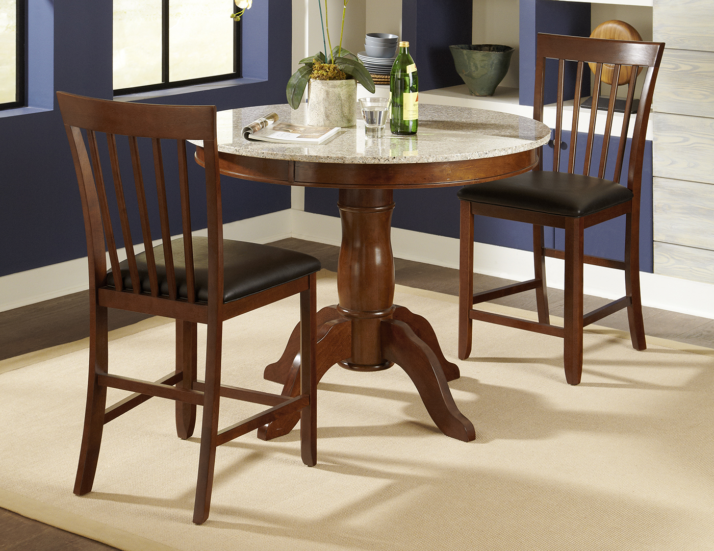 Granite Round 3-pc. Dining Set