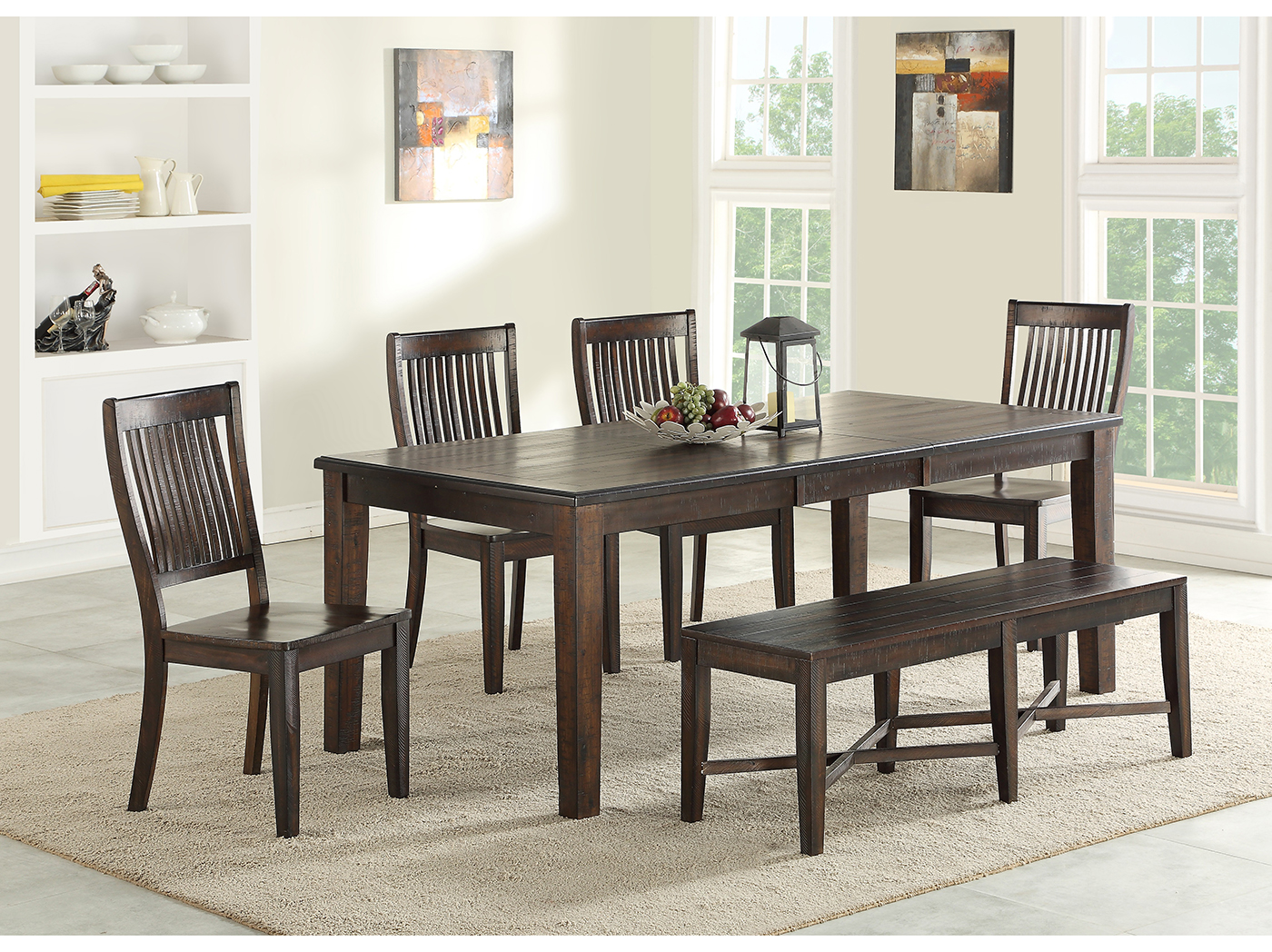 Ironwood 6-Pc. Dining Set with Bench