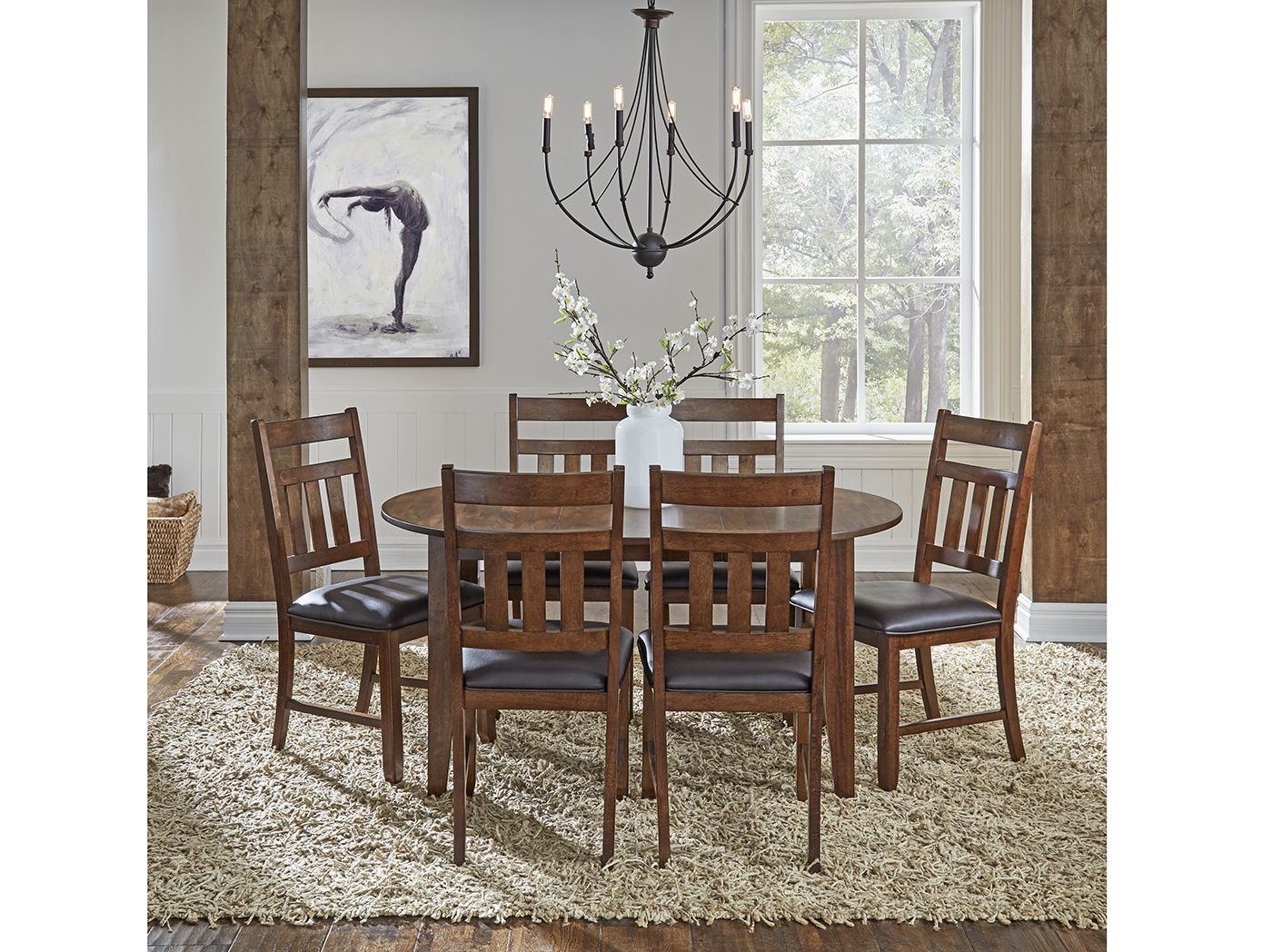 Mason 5-PC Dining Set W/Slatback Chair