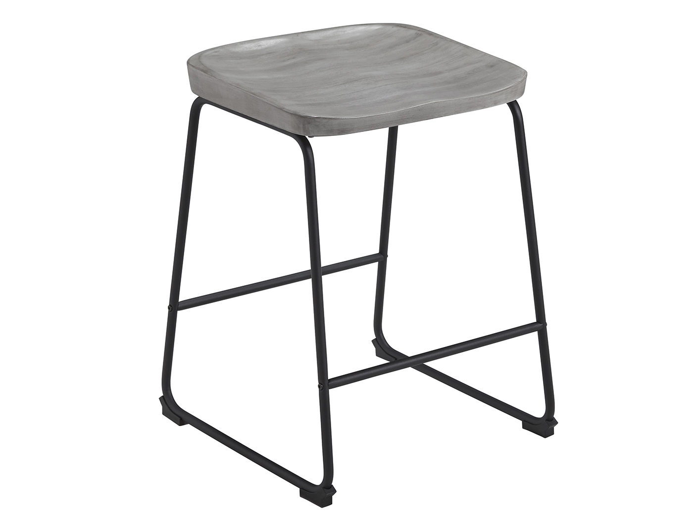 "Leigh Gray 24"" Backless Counter Stool"