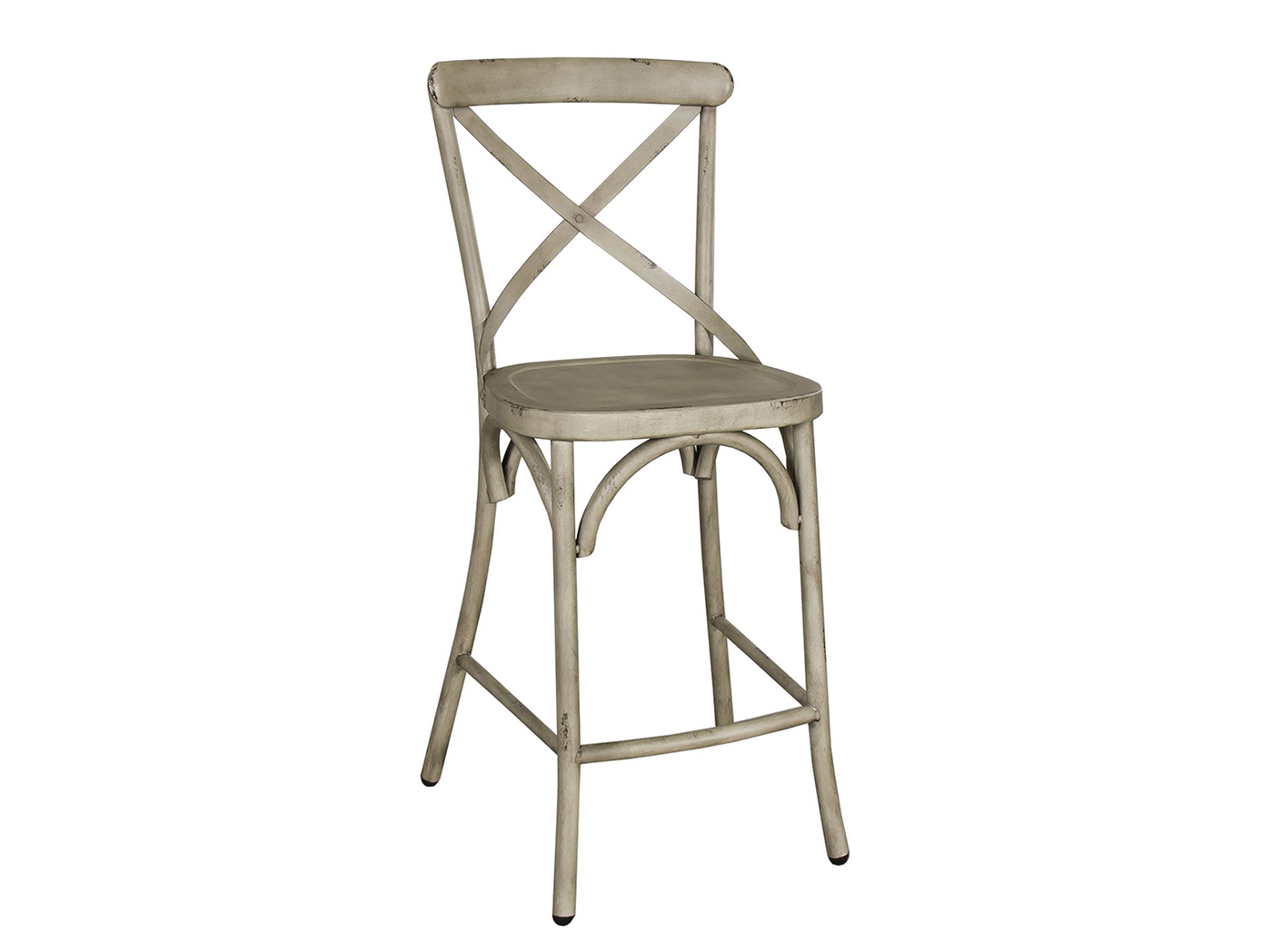 Vintage Cream X-Back Counter Stool
