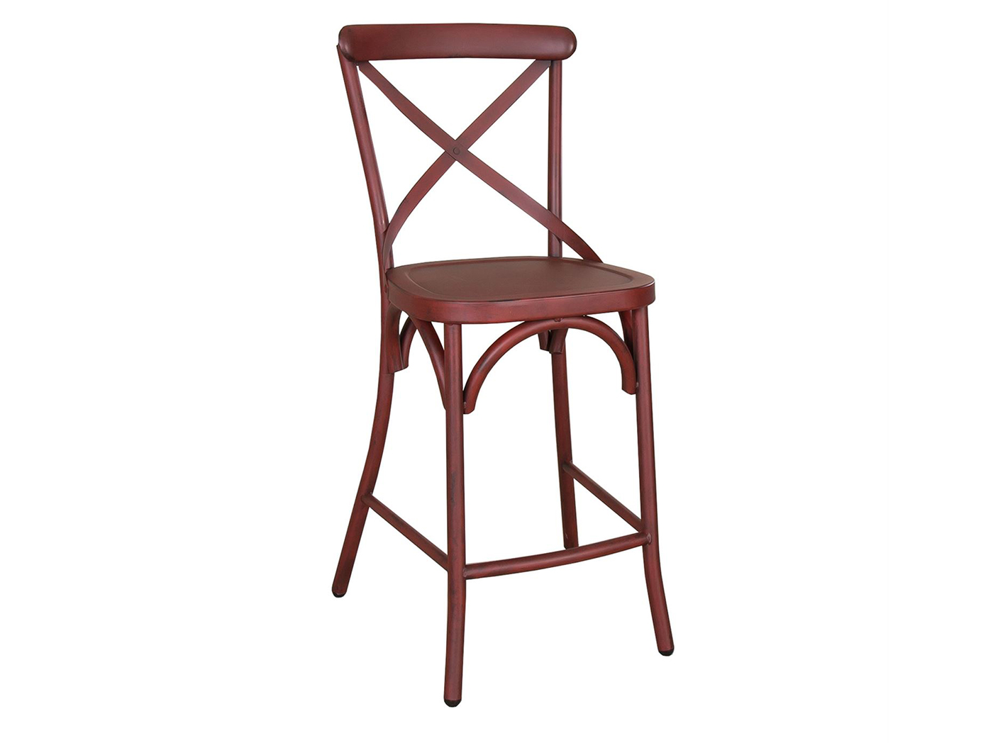 Red X-Back Counter Stool
