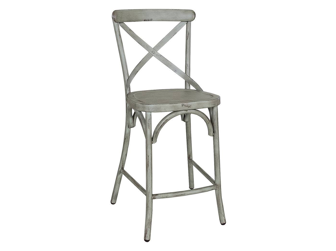 Green X-Back Counter Stool
