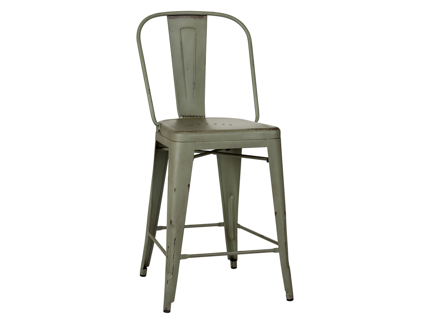 Green Bow Back Counter Stool