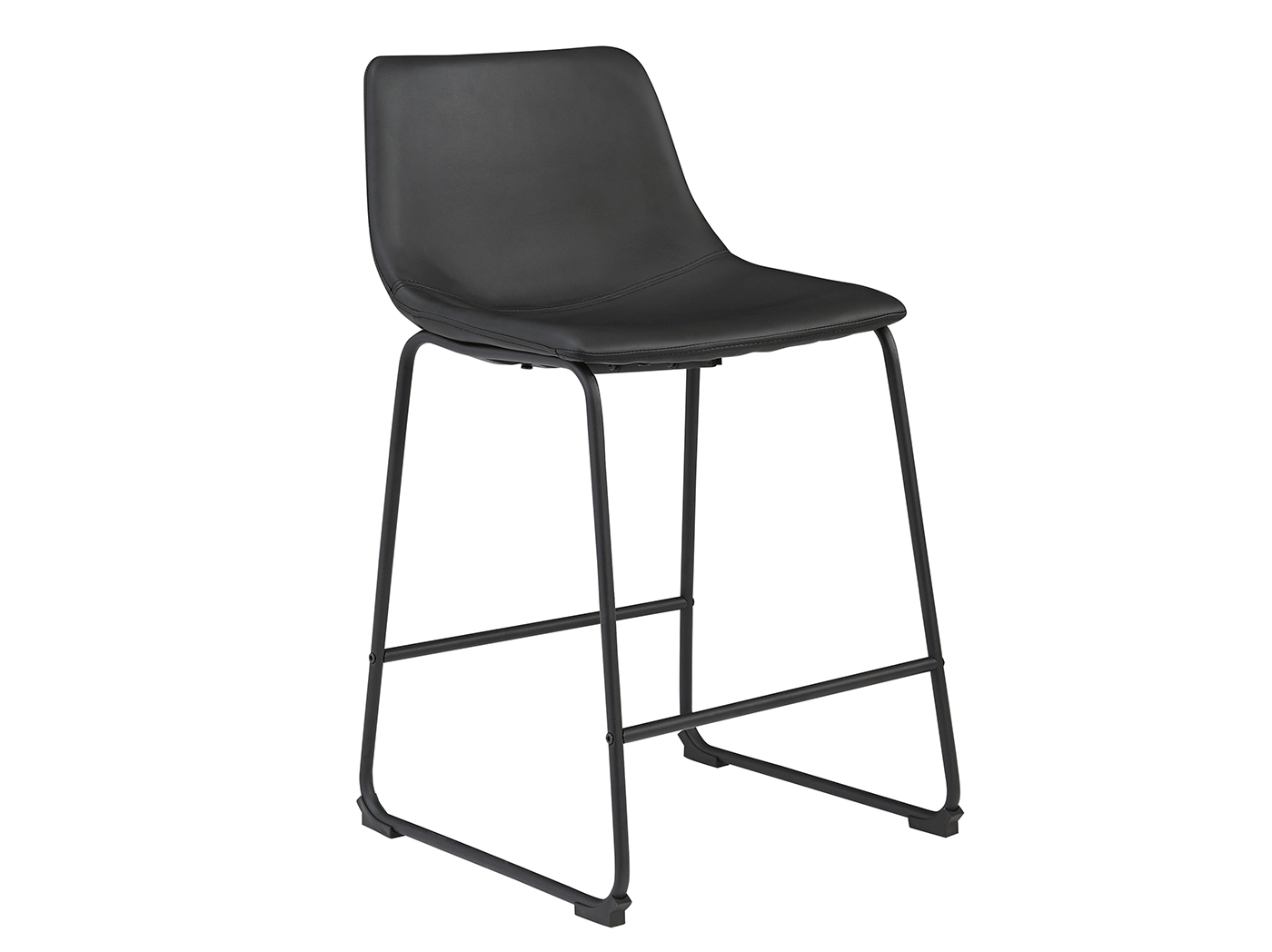 "Leigh Black 24"" Upholstered Counter Stool"